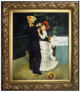 Framed, Quality Oil Painting Repro Renoir, Pierre-Auguste Country Dance 20x24in