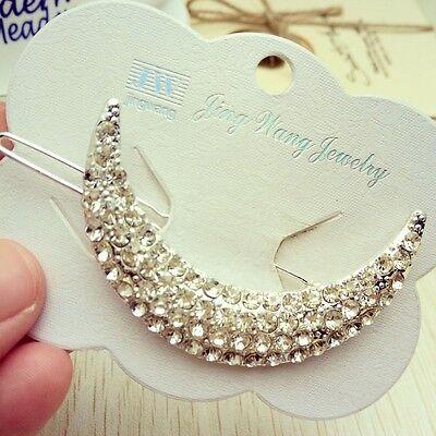 New Fashion Crystal Rhinestone Bridal Hair Barrette Clip Hairpin Women Jewelry
