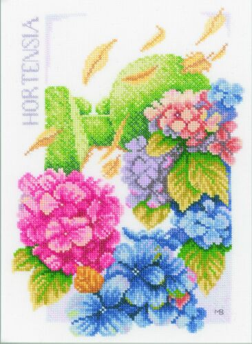 LANARTE 0146539 Hydrangea Power Kit Broderie Point de Croix Compté Aïda
