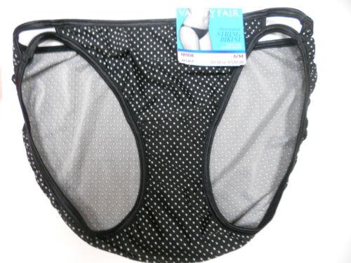 4 pairs VANITY FAIR String Bikini ILLUMINATION 18108 Panty DOT /& OCEAN 6 M