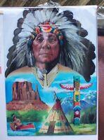 Native American, Totem, Teepee, Canoe, Rocks Garden Flag
