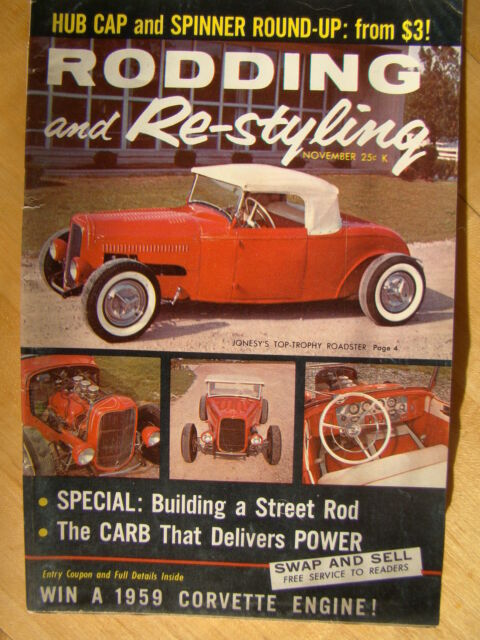 Rodding and Re-Styling Magazine November 1958 Building a Street Rod Hot Rods