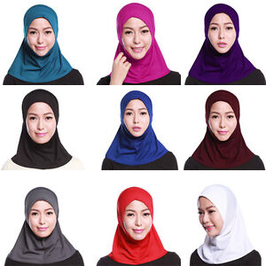 Muslim Womens Hijab 1 Piece Khimar Amira Slip Scarf Abaya Islamic ... e3eb1dde905