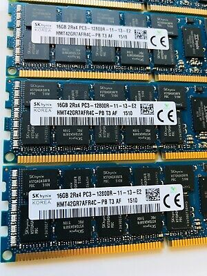 144gb Dell Snpjdf1mc/16g Poweredge R710 Memory Kit 9 X 16gb 2rx4 Pc3-12800r