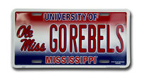 UNIVERSITY OF MISSISSIPPI REBELS CAR TRUCK TAG PLATE OLE MISS FOOTBALL SIGN
