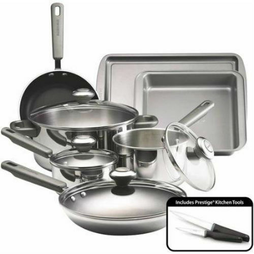 Farberware Complements Dishwasher Safe Stainless Steel 13-Piece Cookware Set New