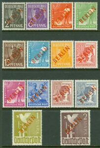 EDW1949SELL-BERLIN-1949-Scott-9N21-34-Cplt-set-Some-Signed-VF-MOGLH-Cat-521
