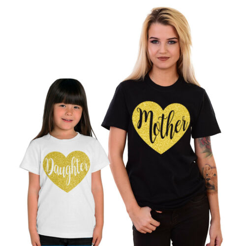 Mother Daughter Matching T-shirts Glitter family tops Mom Life Mothers Day Gift