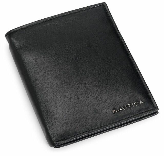 New Nautica Men/'s Premium Leather Credit Card ID Organizer Big Wallet 31NU19X003