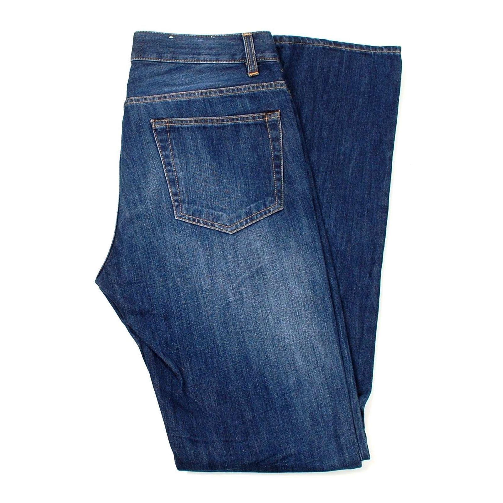 Acne Studios Roc Verakai Gerade Blau Herren Jeans Größe 30 32