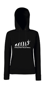 Evolution Volleyball I Sport I Sprüche I Fun I Lustig I Girlie Kapuzenpullover