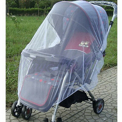 Cute Infants Baby Stroller Pushchair Mosquito Insect Net Safe Mesh Buggy H