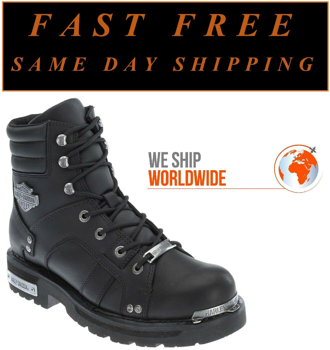 Harley-Davidson® D96114 Men's 6.25  Bonfield Leather Motorcycle Riding Boots