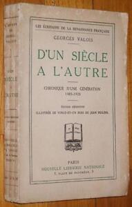 Georges-Valois-D-039-UN-SIECLE-A-L-039-AUTRE-1924-bois-de-Jean-Feildel-Action-Francaise