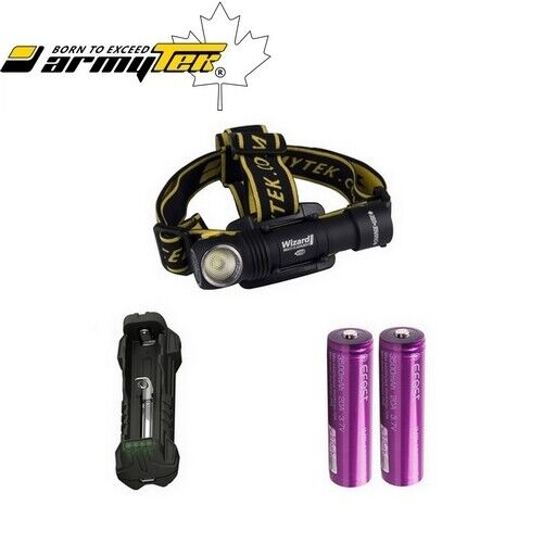 Pack Ultra Trail Frontale Armytek Wizard Pro XHP50 USB 2150 LuSies