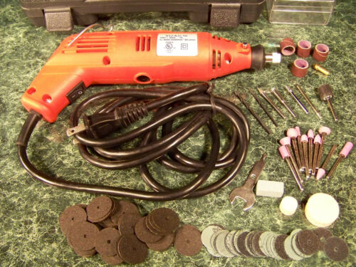 128pc ROTARY TOOL and ACCESSORY KIT with Case Pistol Grip drill Electric