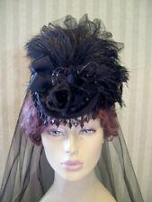 Victorian Hat Mini Riding Hat Steampunk Hat Kentucky Derby Hat Cosplay Hat