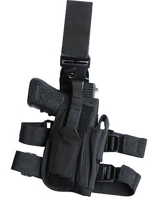 Black Pistol Leg Holster Tactical Military Security Swat Police Army SAS Right