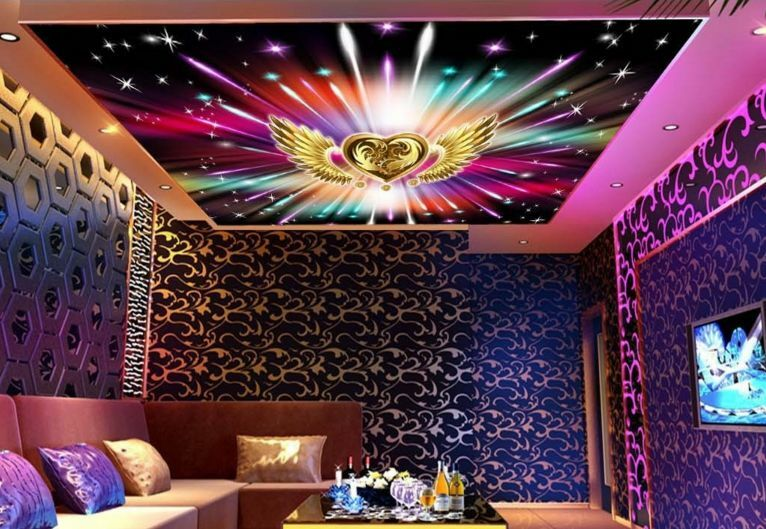 3D Farbe Meteor Ceiling WallPaper Murals Wall Print Decal Deco AJ WALLPAPER GB