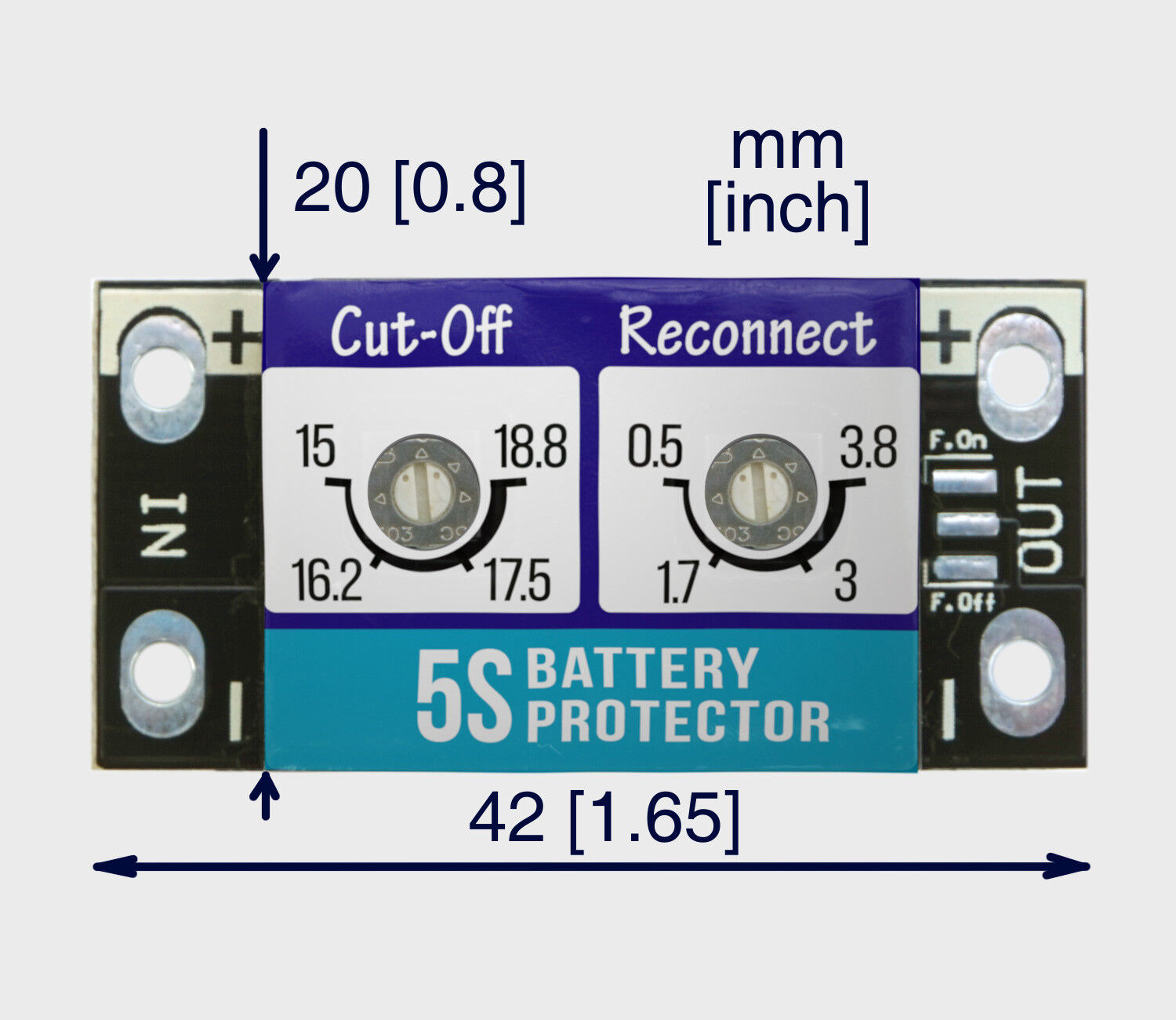 Low voltage Cut-off for LiPo battery battery battery max 5A b0dab0
