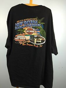 Mens 3xl Harley Davidson T Shirt New Smyrna Beach Florida Motorcycle