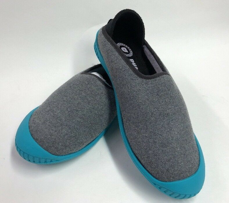 Dualyz Kush Classic Slipper  Grey With Teal Removable Sole Size 9W/7M