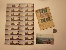 COINS PRAGUE COIN MAGNET STICKERS CZECHOSLOVAKIA CZECH REPUBLIC 27 ITEMS #1