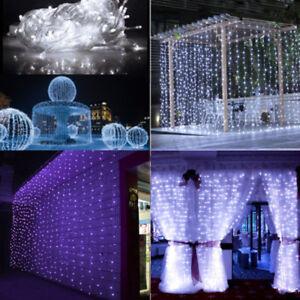3MX3M-300-LED-Waterfall-Bulb-Fairy-String-Curtain-Light-Xmas-Wedding-Party-Decor
