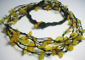 5-Line Raw BALTIC AMBER Necklace