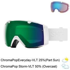 2018 Smith I/o Snow Goggles IO Whiteout ChromaPop Sun Platinum Lens
