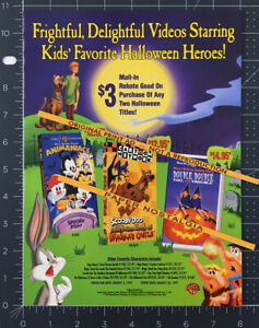 HALLOWEEN promo__Orig. 1997 Trade Print AD__SCOOBY DOO__MARY-KATE & ASHLEY OLSEN