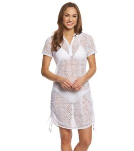1f6dcda47d016 NWT Dotti Swimsuit Bikini Cover Up Dress Tunic Size XL White Aztec ...