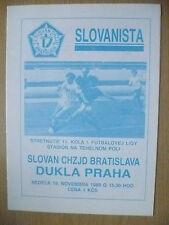 1989 - SLOVAN CHZJD BRATISLAVA v DUKLA PRAHA