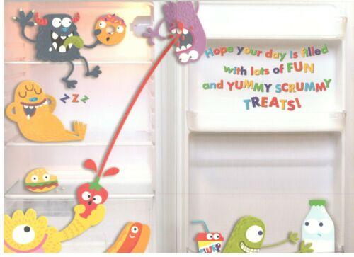 Magnétique Réfrigérateur Monstres Joyeux anniversaire. Carte d/'anniversaire pour enfants