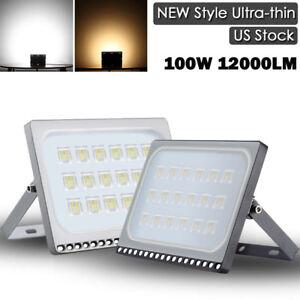 100W-LED-Flood-Light-12000LM-Cool-Warm-White-Outdoor-Spotlight-Garden-Yard-Lamp