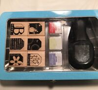 Stampin' Up Punch Box Terrific Tags Stamp Set, Stamp Pads And Punch