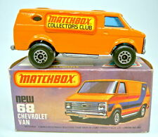"Matchbox SF Nr. 68C Chevy Van orange ""Matchbox Collectors Club"" Sondermodell"