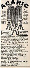 ACARIC Vertilirter Hosenträger & Unterhosen-Halter  Historische Reklame von 1893