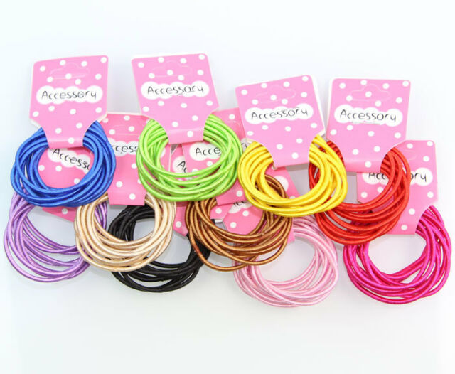 100pcs/lot Baby Girl Kid Tiny Cute Hair Accessory Hair Ties Bands Ropes 10 Color