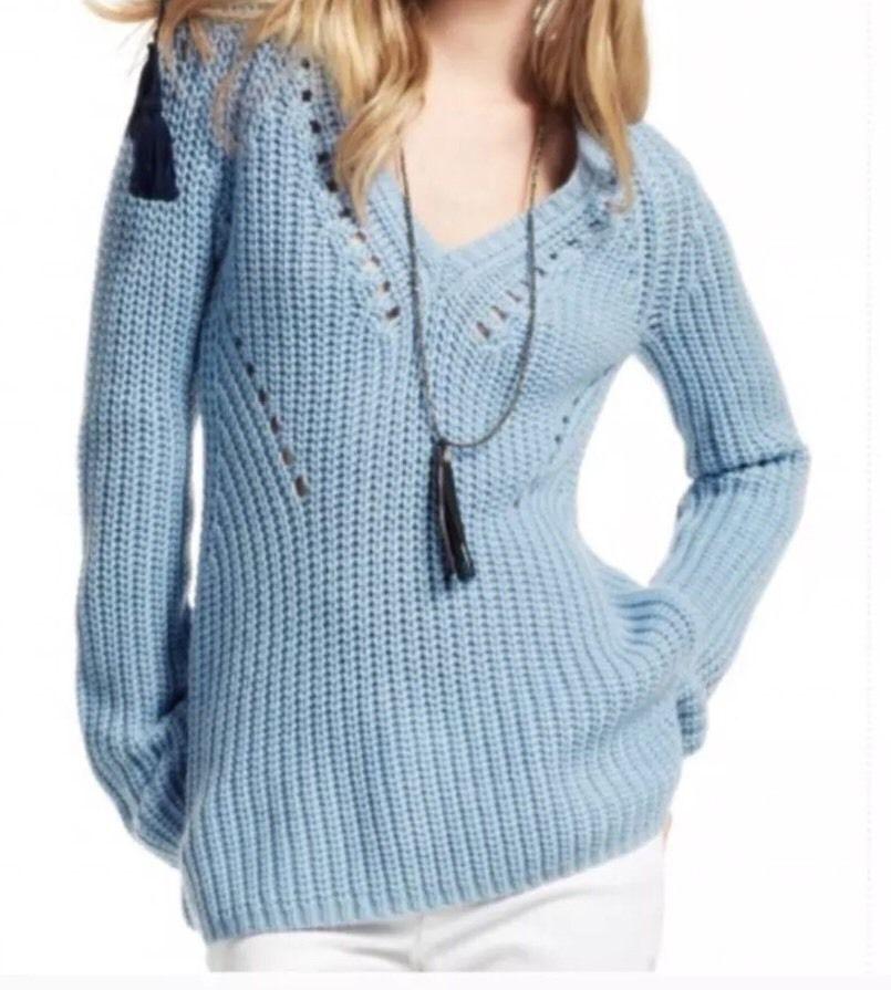 Calypso St. Barth Callani Wool Sweater  Baby bluee  Gorgeous NWT 189 Size Medium
