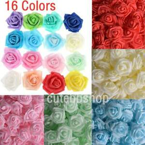 Wholesale-25-400PCS-Foam-Artificial-Rose-Head-Flower-Home-Wedding-Party-Decor