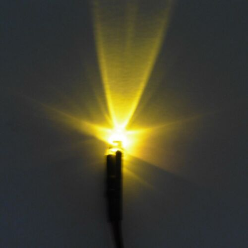 5mm 12V Pre-Wired Blinking Crystal Clear LED Diode 20cm Cable Wire Light