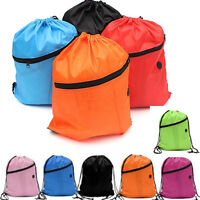 Girls Boys Kids Drawstring Swim Sports Shoe Dance  Bag Schoolbag Backpack PE Gym
