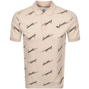 Lacoste-Live-Signature-Polo-Shirt-Beige