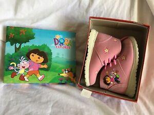 DORA-THE-EXPLORER-Girl-039-s-Hiking-Boots-Shoes-Magenta-Toddler-Size-8-NICK-JR-NIB