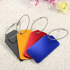 4pcs Aluminium Metal Travel Luggage Baggage Suitcase Address Tags Label Strap
