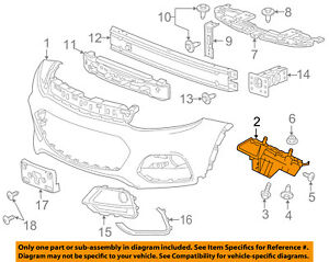 Chevrolet GM OEM 17-18 Trax Front Bumper Grille Grill-Skid Plate 42392739