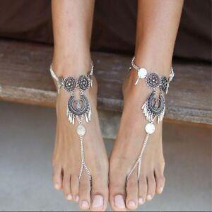 Fashion Anklet Bracelets Beach Sandals Sexy Leg Chain Female Crystal ... 522c551a2b4f