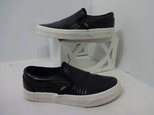 Vans black Leather Skate Shoes Mens