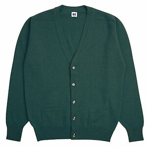 Community-Clothing-Men-039-s-Light-Green-Wool-Cardigan